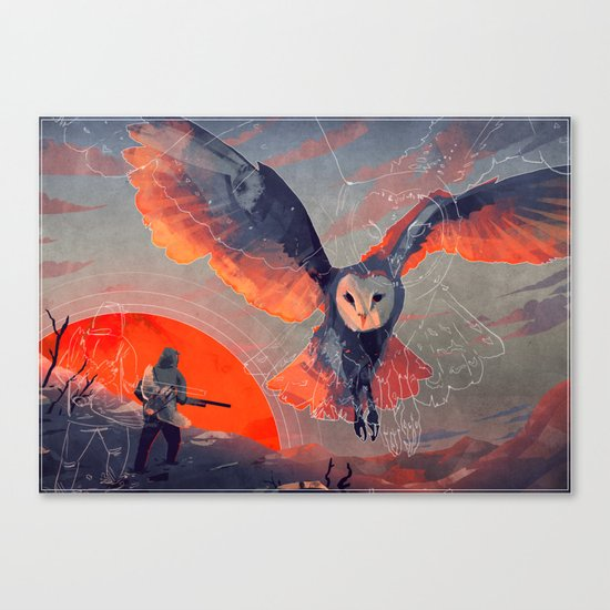 Owl Hunt Canvas Print