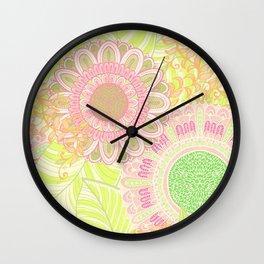 Hand Drawn Floral & Mandala 07 Wall Clock