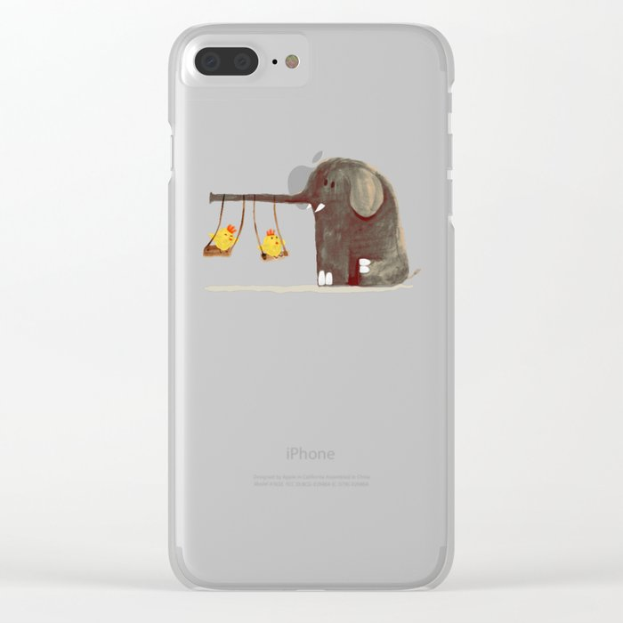 Elephant Swing Clear iPhone Case