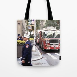 The Fire Dept of New York at 30 Rock Tote Bag