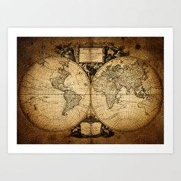 World Map 1752 Art Print