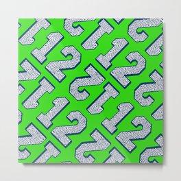 Go Hawks 12 pattern design Metal Print