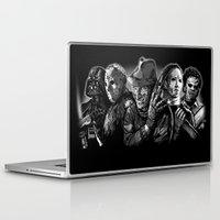 freddy krueger Laptop & iPad Skins featuring Freddy Krueger Jason Voorhees Michael Myers leatherface Darth Vader Blackest of the Black by Scott Jackson Monsterman Graphic