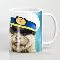 otter Mugs featuring Captain Otter by tillieke
