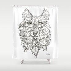 Mr Wolf Shower Curtain