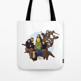 Jane Goodall and Chimps Tote Bag