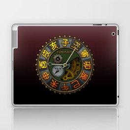 Japonism clock 1 Laptop & iPad Skin