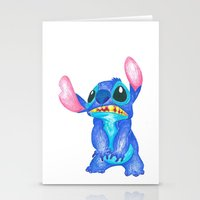 lilo and stitch Stationery Cards featuring Stitch by Kailan Harris (TheLonelyZero)