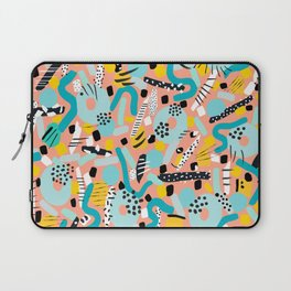 CIRCLES IN MOTION - peach/ yellow/ mint Laptop Sleeve