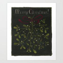 Merry Christmas Mistletoe! Art Print