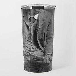 Mr. Pineapple with shotgun. 1904. Travel Mug
