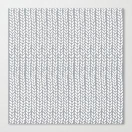 Knit Wave Grey Canvas Print