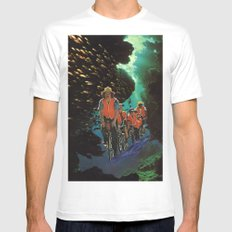 Bike Tour Mens Fitted Tee White MEDIUM