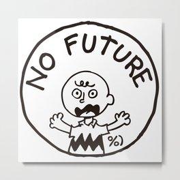 Charly Brown Punk No Future Metal Print