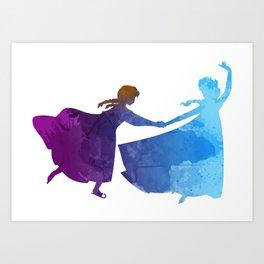 Sisters Inspired Silhouette Art Print