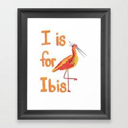 I is for Ibis Framed Art Print