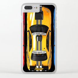Exclusive poster with sports cars. Clear iPhone Case
