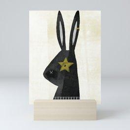Rock Rabbit Mini Art Print