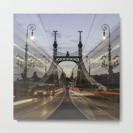 Budapest traffic Metal Print