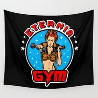 gym Wall Tapestries featuring Eternia Gym Teela version by Buby87