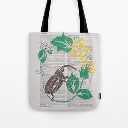 I Shall Fear No Weevil   (Boll Weevil and Cotton Blossoms) Tote Bag