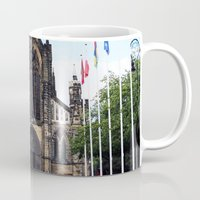 medieval Mugs featuring medieval glasgow by seb mcnulty