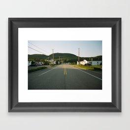 Hills and road#1 Framed Art Print