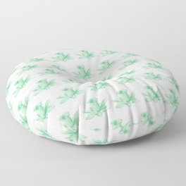 green flowers pattern Floor Pillow