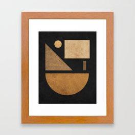 Geometric Harmony Black 03 - Minimal Abstract Framed Art Print