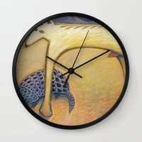 coyote Wall Clocks featuring Coyote by Bryan Dechter