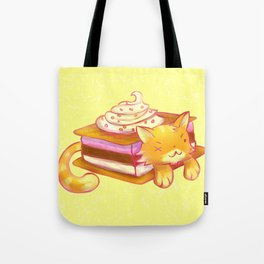 Ice sandwich cat Tote Bag