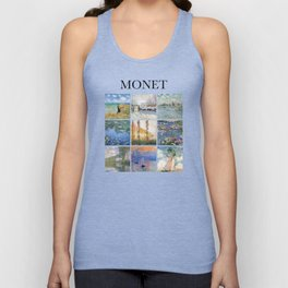 Monet collage Unisex Tank Top