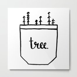 Pocket of Trees Metal Print