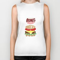 food Biker Tanks featuring Food by Satyrbug