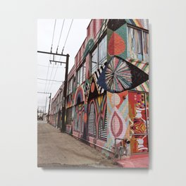 Alley of Psychedelic Building in Oklahoma City Metal Print