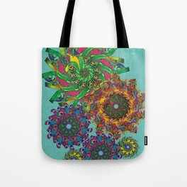 Swirls Abstract - Teal Tote Bag