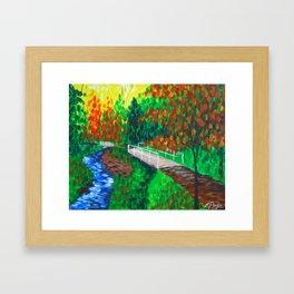 Creekside Bridge Framed Art Print