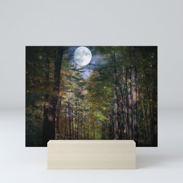 Magical Moonlit Forest Mini Art Print