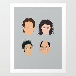 Jerry, Elaine, Kramer, George Art Print