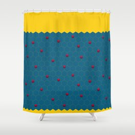 Exagons Shower Curtain