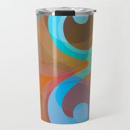 Geometric Ampersand Rainbow Travel Mug