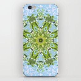 Green Cutout Mandala iPhone Skin