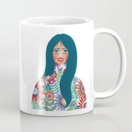 Lady in the Flowers Coffee Mug