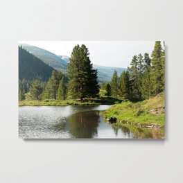 Breckenridge Lakeside Metal Print