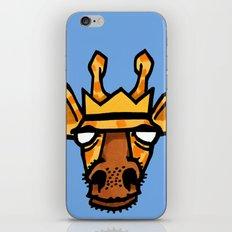 king giraffe iPhone & iPod Skin
