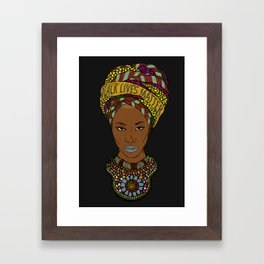 Black lives matter Framed Art Print