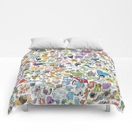Kawaii Mix Poke Monster v1 Comforters