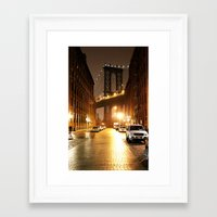 brooklyn Framed Art Prints featuring Brooklyn by Rochana Dubey