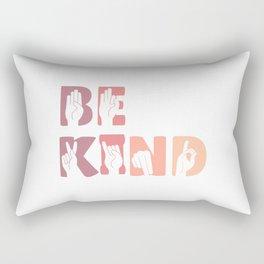Cute Be Kind Sign Language ASL Gift Rectangular Pillow