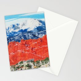 Pikes Peak Behind the Garden of the Gods Stationery Cards